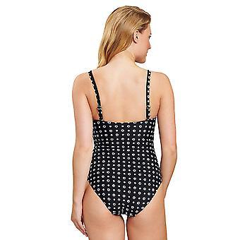 Rösch 1205511-16077 Women's Black Dots Zwempak