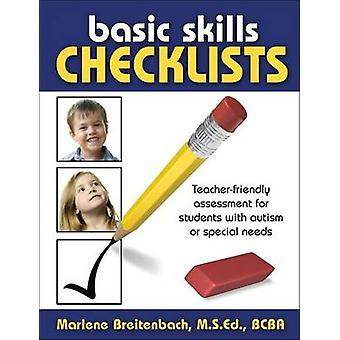 Basic Skills Checklists  TeacherFriendly Assessment for Students with Autism or Special Needs by Marlene Breitenbach