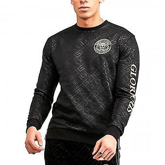 Glorious Gangsta Linden Black Crew Neck Logo Sweatshirt