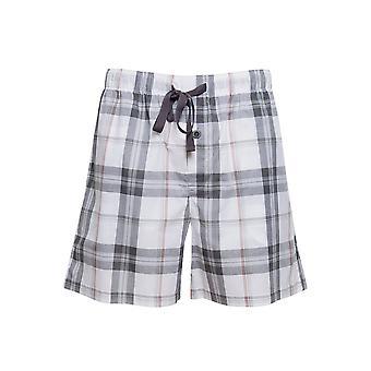 Cyberjammies 6440 Men's Jackson Grey Check Cotton Woven Pyjama Short