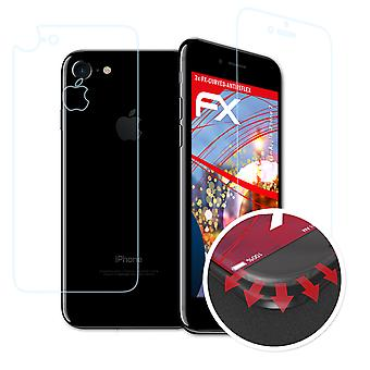 atFoliX Glass Protector compatible with Apple iPhone 7 Glass Protective Film 9H Hybrid-Glass