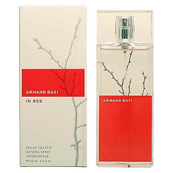 Perfume feminino e apos em braço vermelho e basi EDT