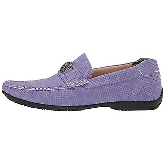 Stacy Adams Mens CYD Leather Closed Toe Slip On Shoes, Lilac, Size 9.0