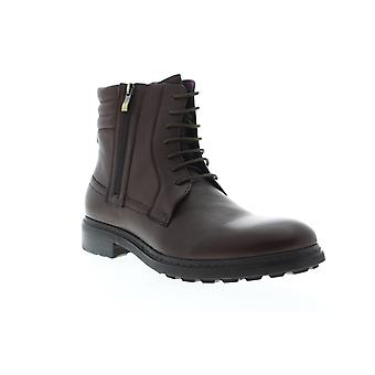 Zanzara Perugia  Mens Brown Leather Lace Up Casual Dress Boots Shoes