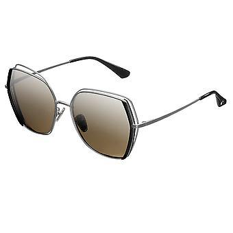 Bertha Remi Polarized Sunglasses - Silver/Silver