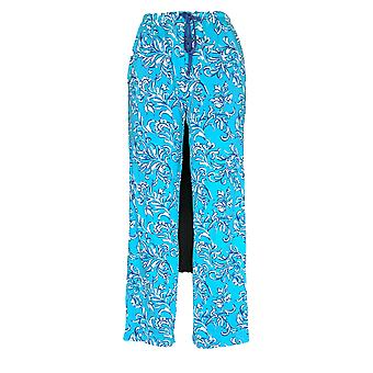 Carole Hochman Women's Pajama Pants French Scrolls Teal Green A346802