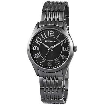Excellanc 151071000006-relógio de pulso, diferentes materiais, cor: preto