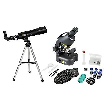 National Geographic Compact Telescope + Microscoop met Smartphone Mount