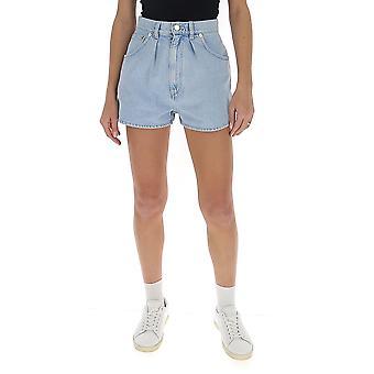 Alberta Ferretti 03181678v0293 Women's Light Blue Cotton Shorts