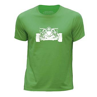 STUFF4 Boy's Round Neck T-Shirt/Stencil Car Art / Atom V8/Green