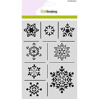 CraftEmotions قناع الاستنسل - بلورات الجليد A5 طبيعة عيد الميلاد