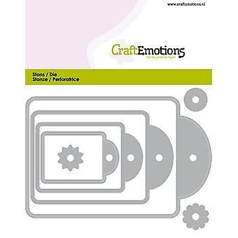 CraftEmotions Die - Etiketten 4 Größen Karte 11x9cm - 44, 61, 82, 177 mm (03-20)