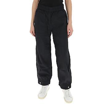 Ganni F4348099 Women's Black Nylon Pants