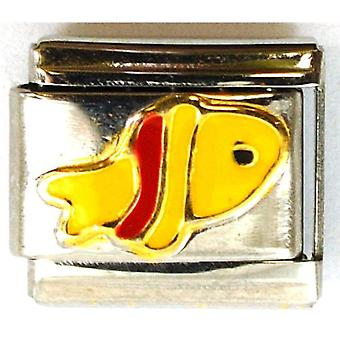 The Olivia Collection Enamel Fish Stainless Steel Italian Charm