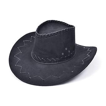 Cowboy hattu. Ommeltu musta