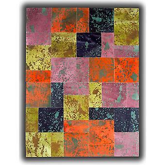 Tepper - lappeteppe skinn okseskinn - syre farger AC1