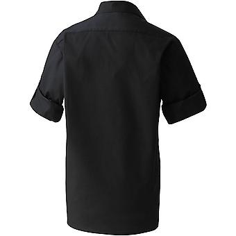 Premier ministre Mens «Manchon de rouleau» plaine de popeline chemise de travail
