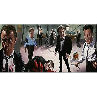 Justin Reed - The Meeting Place Reservoir Dogs Canvas Plate 50-100cm