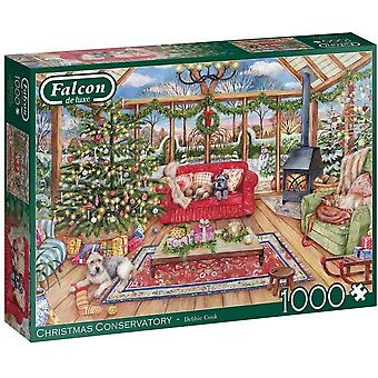 Falcon De Luxe Puslespill - Christmas Conservatory, 1000 stykke