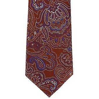 Michelsons Londyn ozdobny Paisley Jedwabny krawat - pomarańczowy