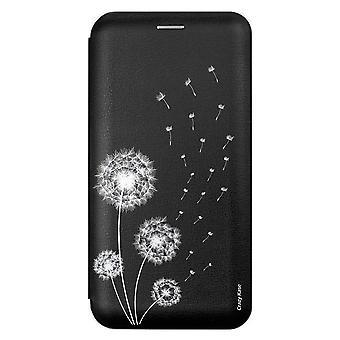 Fall für Samsung Galaxy S10th Schwarz Motiv Pissenlit Blumen