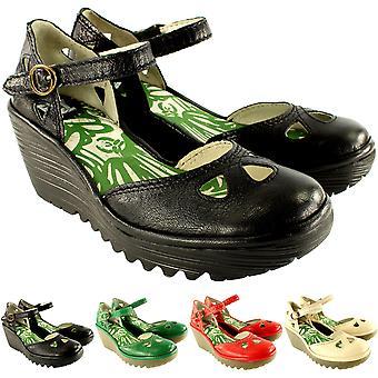 Naisten lentää Lontoon Yuna kiila kantapää sandaalit nilkka hihna kesätöitä kengät