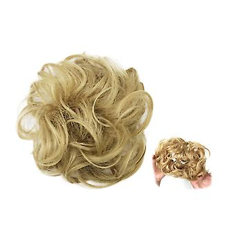 Scrunchie with synthetic hair - Light brown