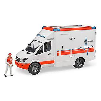 Ambulance with Light and Sound Mercedes Benz Sprinter Bruder White