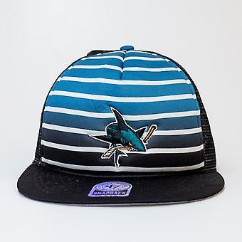 '47 Nhl San Jose Sharks Mesh Dome schwarz & grau Snapback
