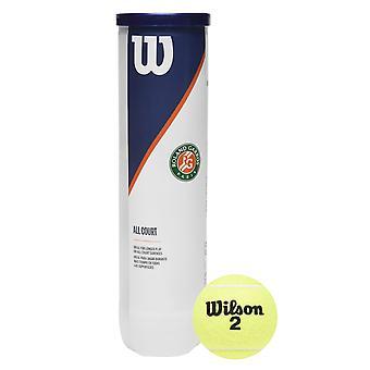 Wilson Tennis Ball 4 Pack Woven Felt Moisture Resistant All Courts Sport
