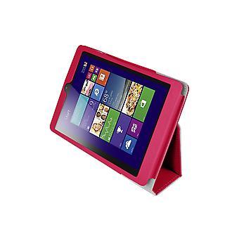 Mágneses PU bőr tok huzat a Lenovo MiiX 3 7.85&Tablet[Hot Pink]