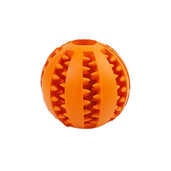 7cm Orange Dog Pet Toy Chew Clean Rubber Ball