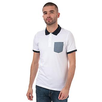 Heren's Jack Jones Texan Slim Fit Polo Shirt in Wit
