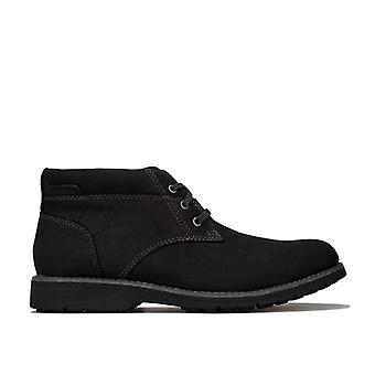 Men & apos; s Hush Valpar Beauceron Plain Toe Chukka Boot i svart