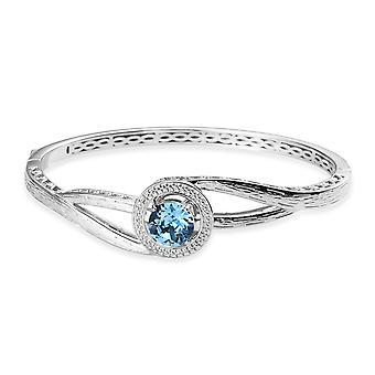 J FRANCIS 3.5 Ct Made with Swarovski® Crystal Bangle for Women Size 7.5