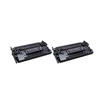 Remplacement de 2 x RudyTwos pour unité de Toner HP 87 a noir Compatible LaserJet Enterprise M506dn, M506n, M506x, M527c MFP de flux, flux MFP M527z, MFP M527dn, M527f MFP, HP LaserJet Pro M501dn, M501n