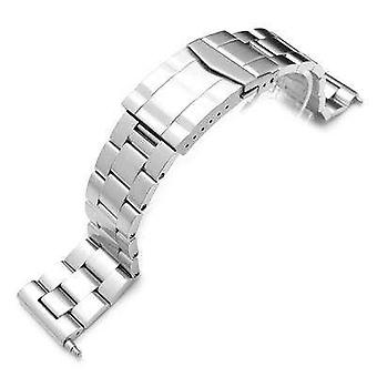 Strapcode watch bracelet 22mm super oyster solid link 316l stainless steel bracelet straight end, solid submariner clasp