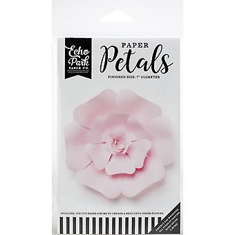 Echo Park Papier Pétales Petite Rose Rose Claire