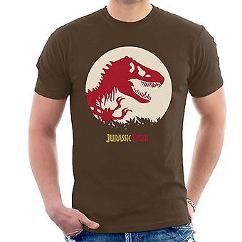 Jurassic Park Red Silhouette Men's T-Shirt