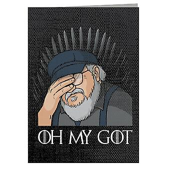George RR Martin Oh My GOT Greeting Card