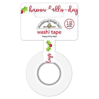 Doodlebug Design Happy Holly-days Washi Tape