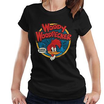 Woody Woodpecker Logo Guess Who Women's T-Shirt