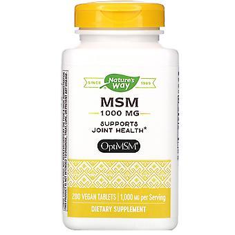 Nature's Way, MSM, 1.000 mg, 200 tabletas veganas