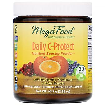 MegaFood, Daily C-Protect, Nutrient Booster Powder, Unsweetened, 2.25 oz (63.9 g