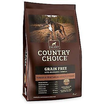 Gelert Country Choice Getreide Frei Türkei & Veg - 2kg