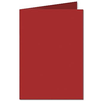 Chilli Red. 148mm x 210mm. A6 (Long Edge). 235gsm Folded Card Blank.