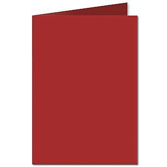 Chili röd. 148mm x 210mm. A6 (Långsida). 235gsm Vikta Kort Tomt.