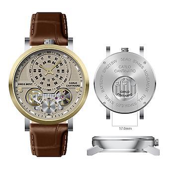 Carlo Cantinaro CC1004GL012 Men's Watch Quartzmatic GMT