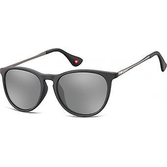 Sunglasses Unisex Mirror Lens Cat.3 matt black (MS24)
