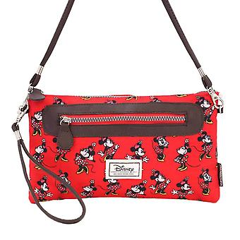 Minnie Mouse fröhlich Evintage rote Schultertasche